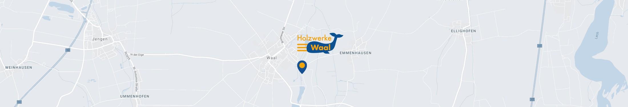 Karte Holzwerke Waal